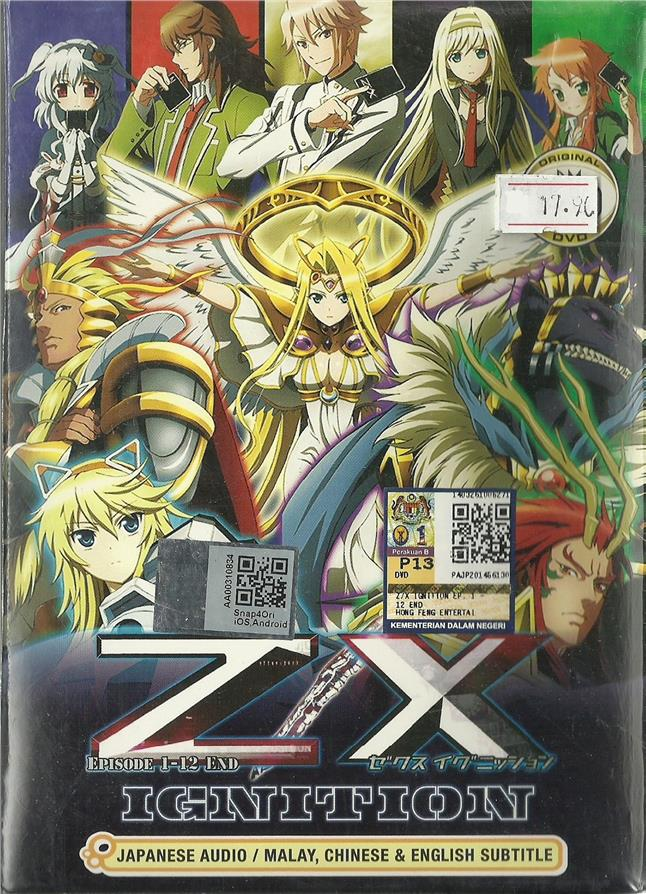 Z/X IGNITION - COMPLETE ANIME TV SERIES (1-12 EPIS)