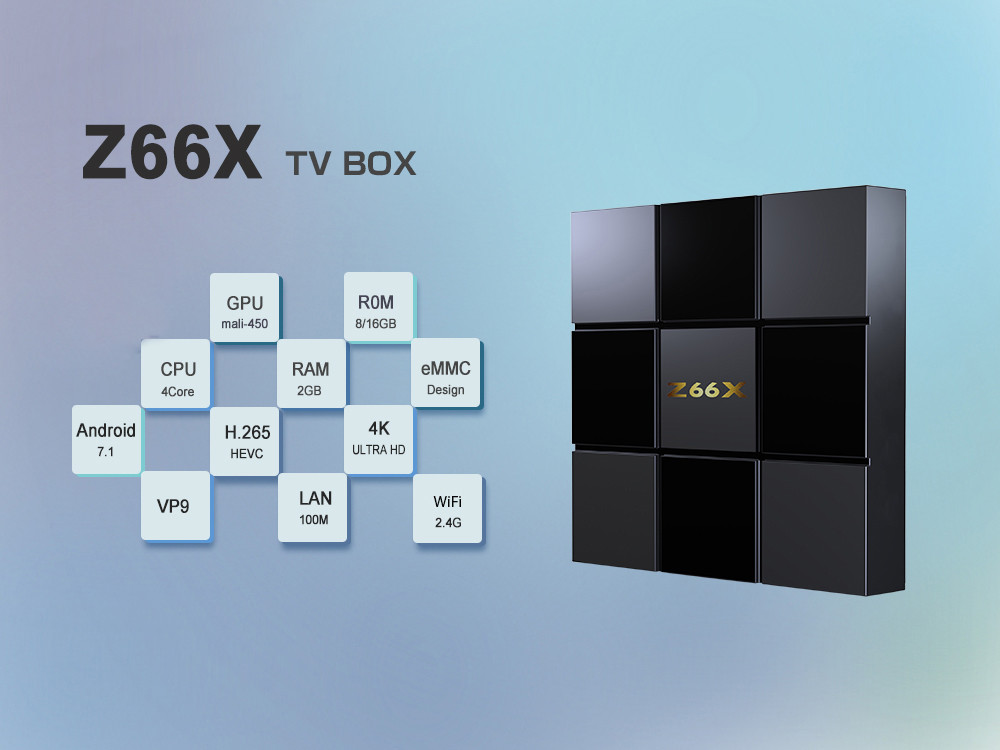 Z66X Z2 TV Box ZX296716 Quad-core Android 7.1