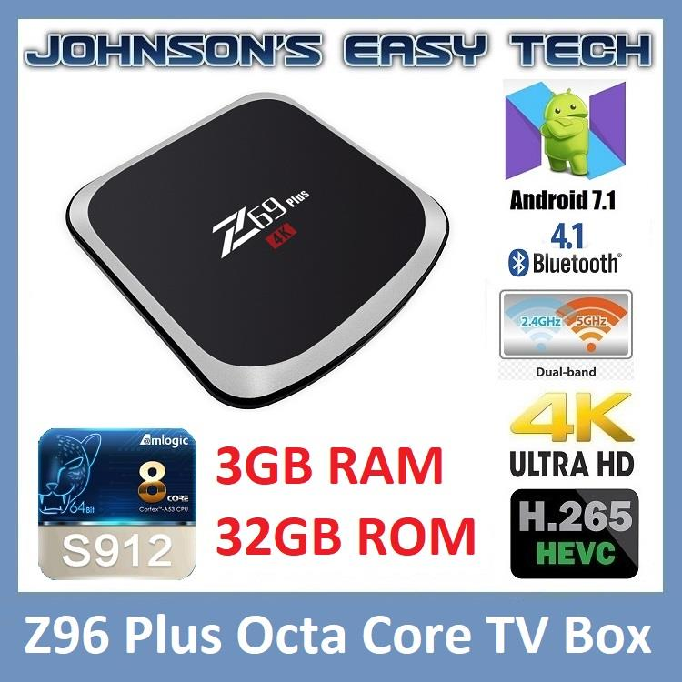 Z69 Plus S912 Octa-core 3G32G Smart TV Box Android 7.1 Ultra HD 4K