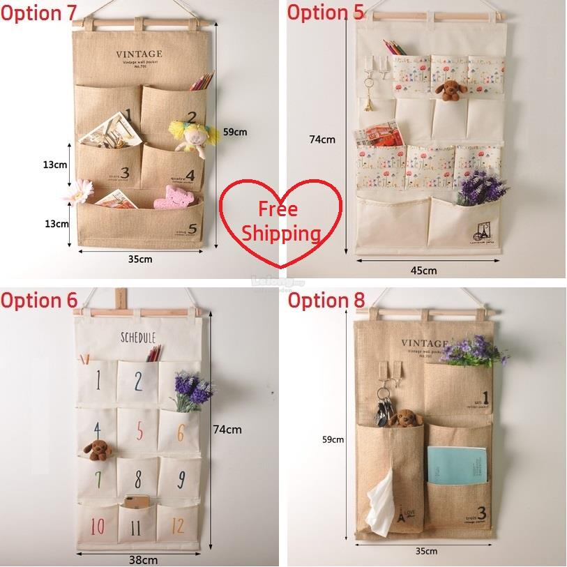 Z Cloth Wall Pocket Storage Bag Home Hanging Organizer