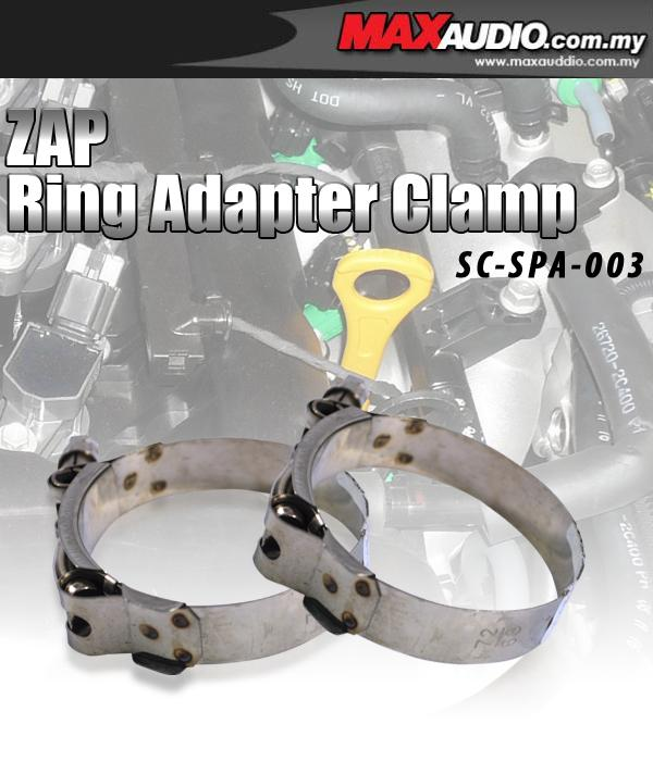 ZAP 2.75' Inch Stainless Steel Racing Ring AdapterHose  Clamp 1 Pair