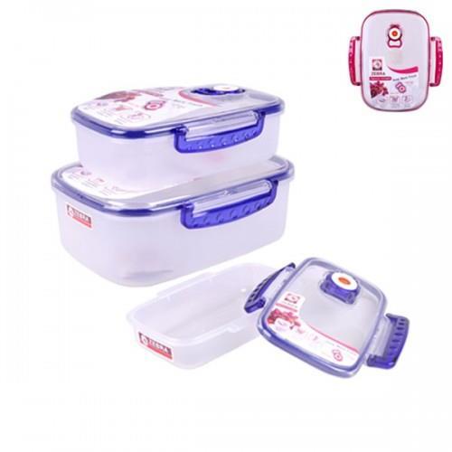 ZEBRA 3PCS FOOD CONTAINER SET SQUE end 2182018 1015 AM