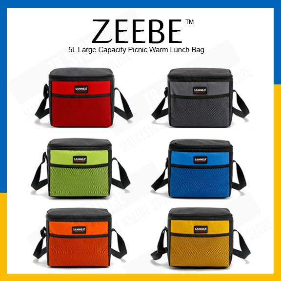 ZEEBE 5L Large Insulated Thermal Lunch Box Warm Cooler Food Bag CB202