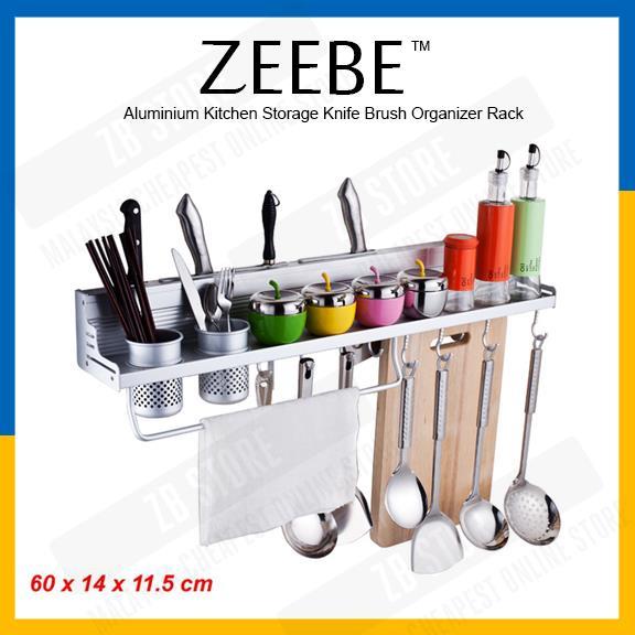 ZEEBE Grade A Aluminium Kitchen Storage Knife Brush Organizer Rack