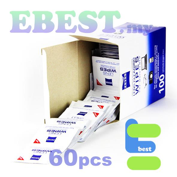 ZEISS Lens Cleaning Wipes 60pcs in Box *NW