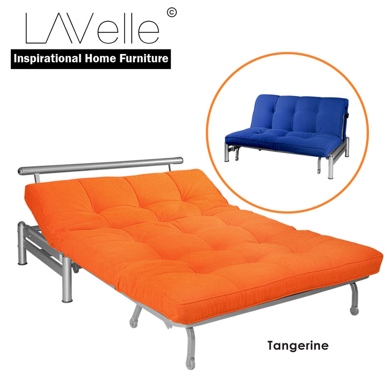 Zelmo Modern Queen Size Sofa Bed Tangerine