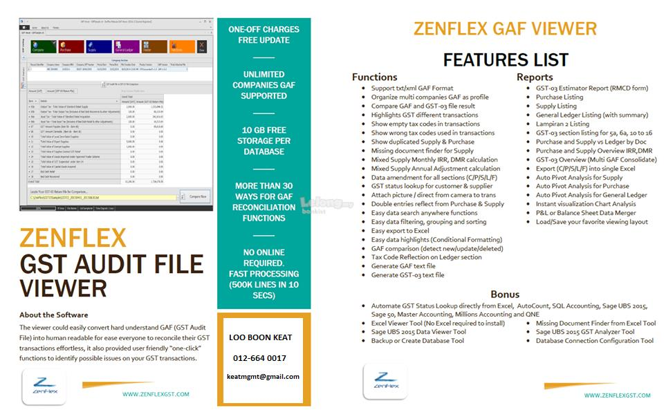 Zenflex GST GAF Viewer