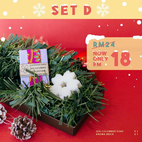 Zensuous Christmas Gift Set D Handmade soap with Aroma Brick