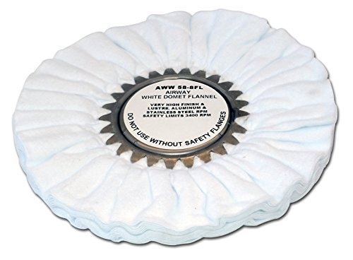 Zephyr AWW 58-8 FL White Domet Flannel Airway Buffing Wheel/from USA
