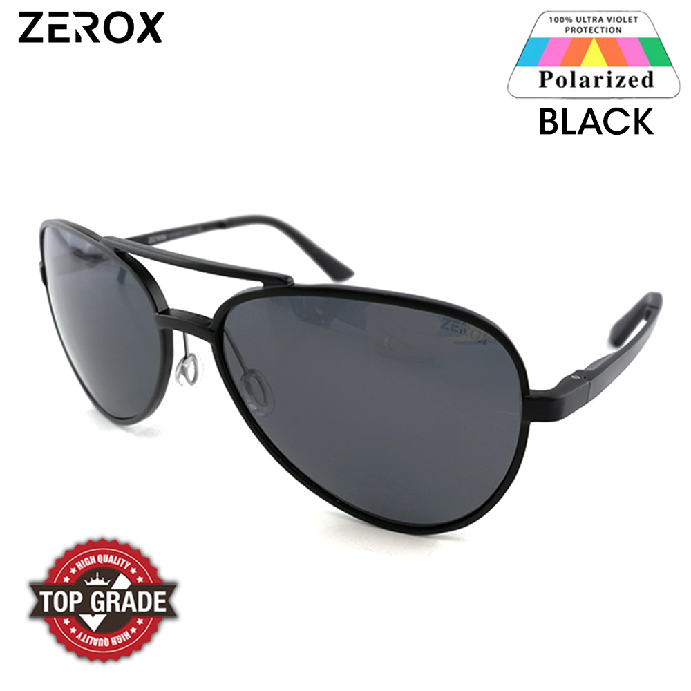 b6864432d3c2 Zerox Top Quality Aluminium UV400 Polarized Sunglasses Men Women TY486