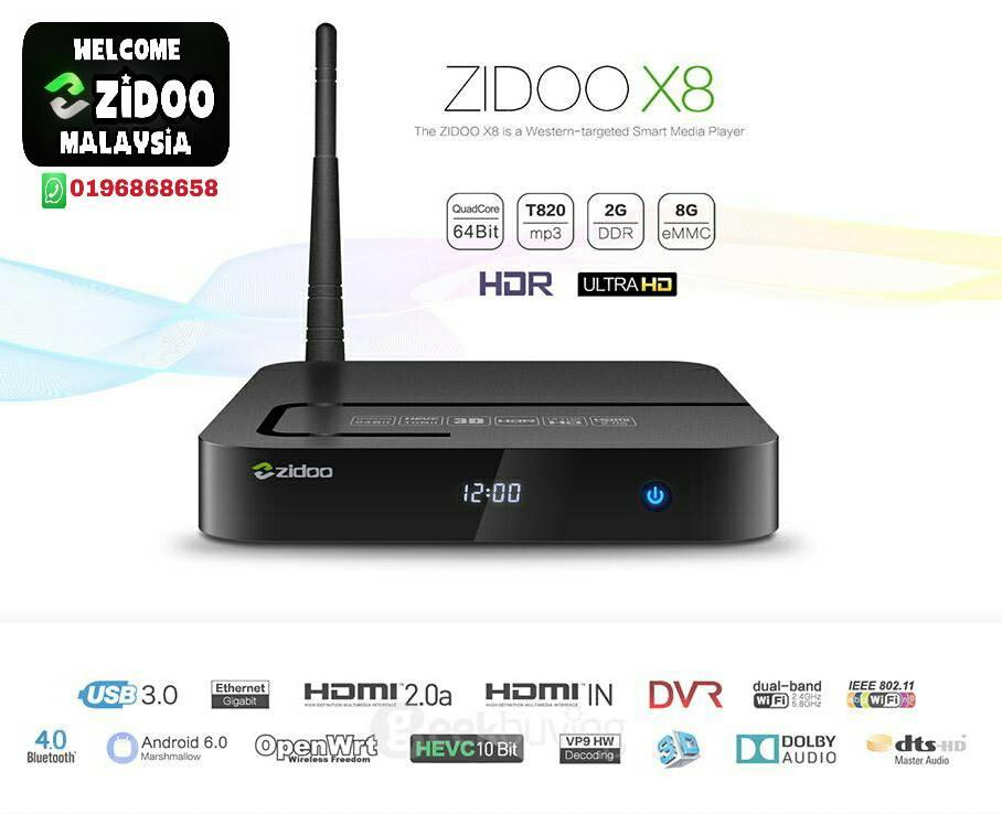 zidoo x8  Zidoo X8 6.0 Android Tv Box (end 12/12/2017 8:15 PM)