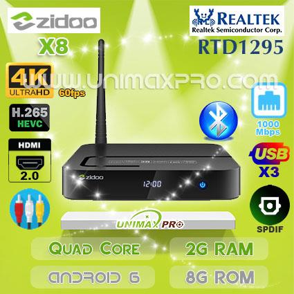 zidoo x8  ZIDOO X8 RTD1295 Quad Core 2GB RAM (end 12/26/2019 10:15 PM)