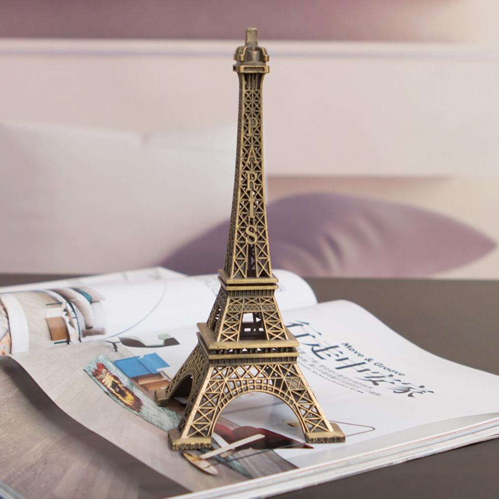 Zinc Alloy Home Decor Eiffel Tower Model Art Crafts Unique Gifts Trave.
