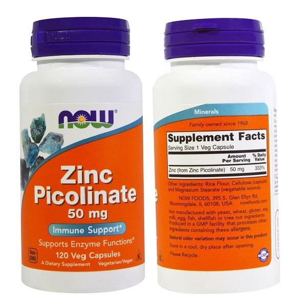 Zinc Picolinate, 50 mg, Immune Support (120 Vcaps)