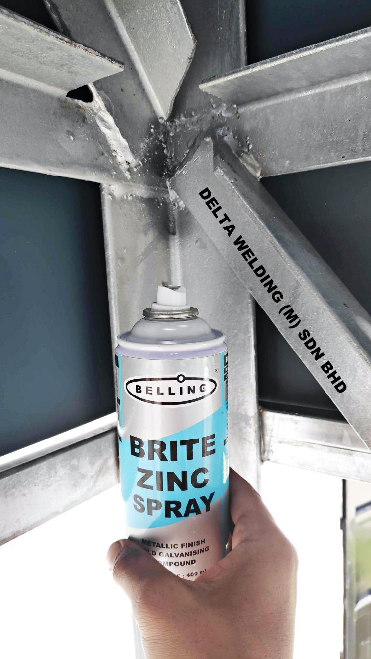 ZINC SPRAY METALLIC FINISH COLD GALVANISING COMPOUND FOR STEEL / IRON