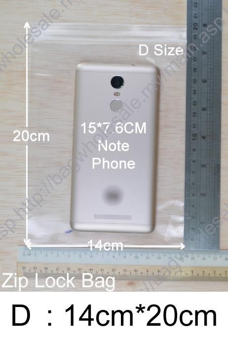 Zip Lock Bag 14cm X 20cm 100pcs Resealable Plastic Bags Size D