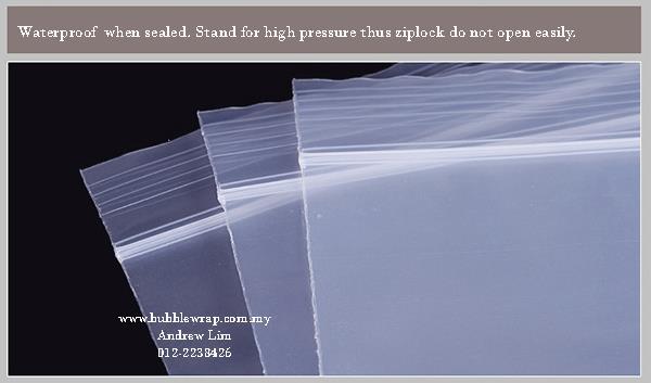 Zip Lock Bag L2 26cm 37cm Resealable Plastic Bags 100pcs
