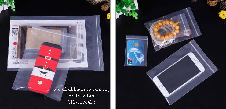 Zip Lock Bag S3 8cm*12cm Resealable Plastic Bags 100pcs