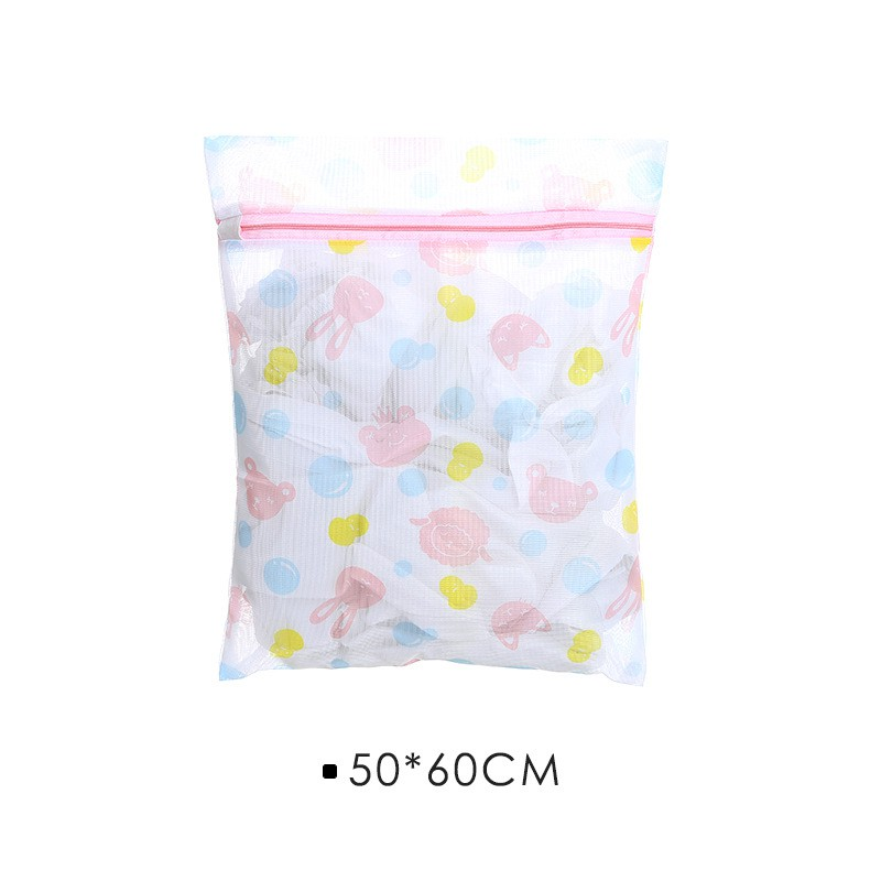 Zippered Nylon Laundry Bags Thickened Mesh Net Bag Washing Machine Protection
