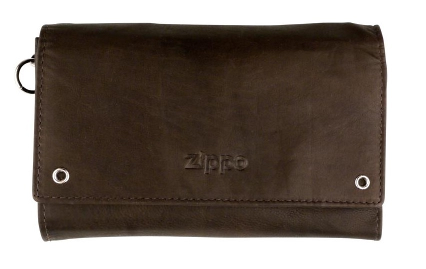 ZIPPO bikers wallet leather with chain mocca (755291)