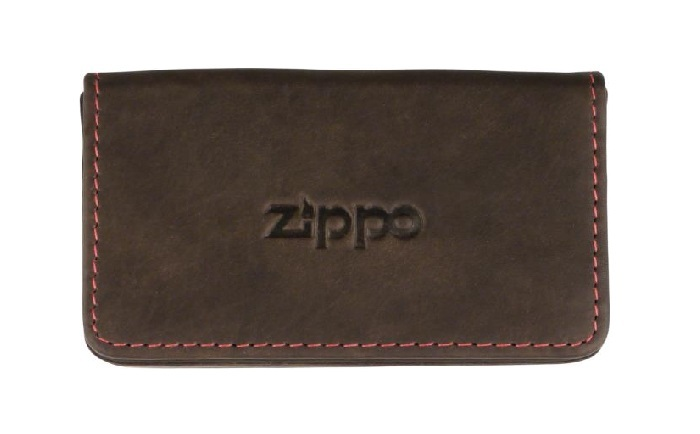 ZIPPO business card holder leather mocca 10 x 6cm (755351)