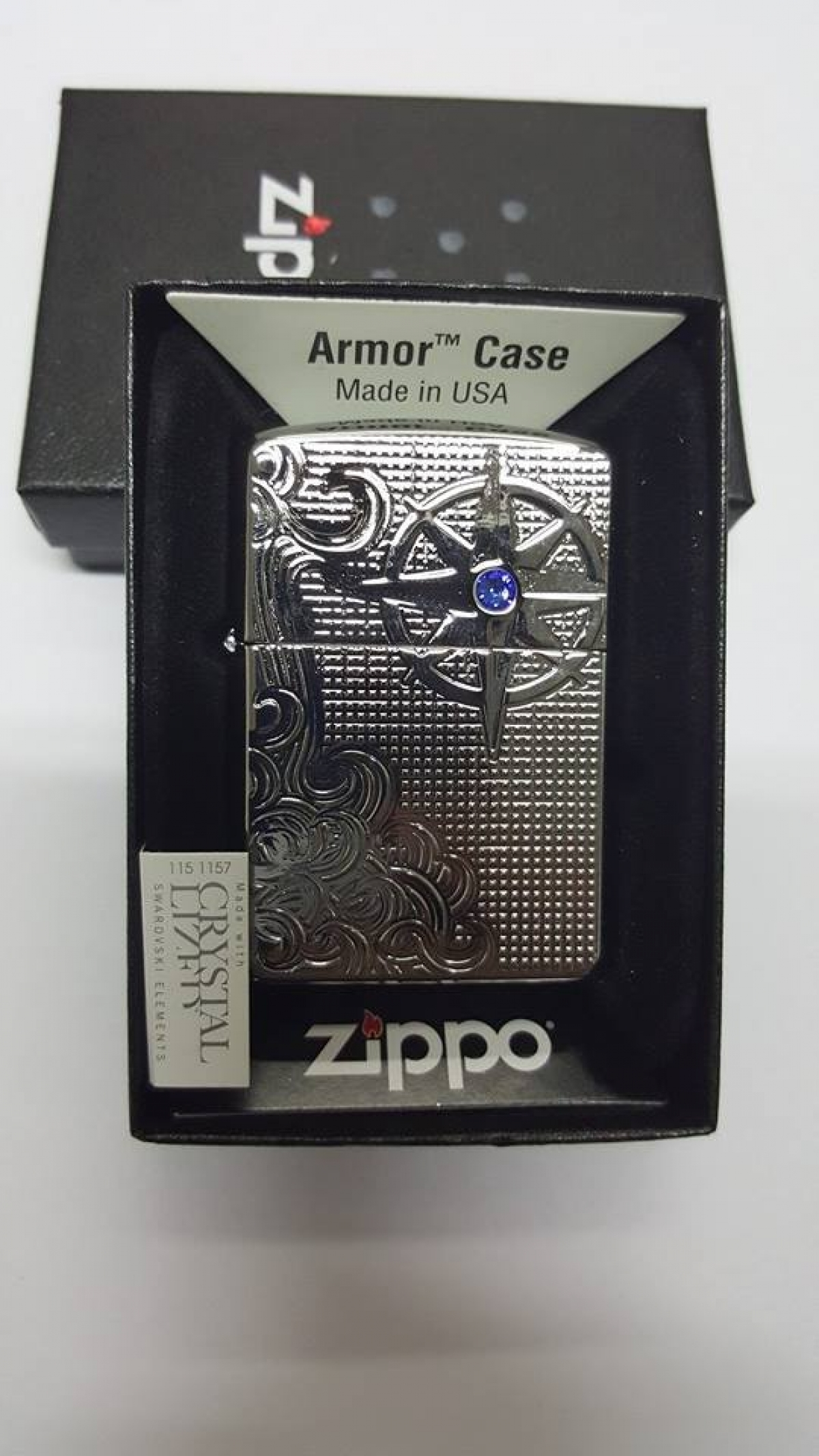 Zippo Lighter Armor Nautic Waves