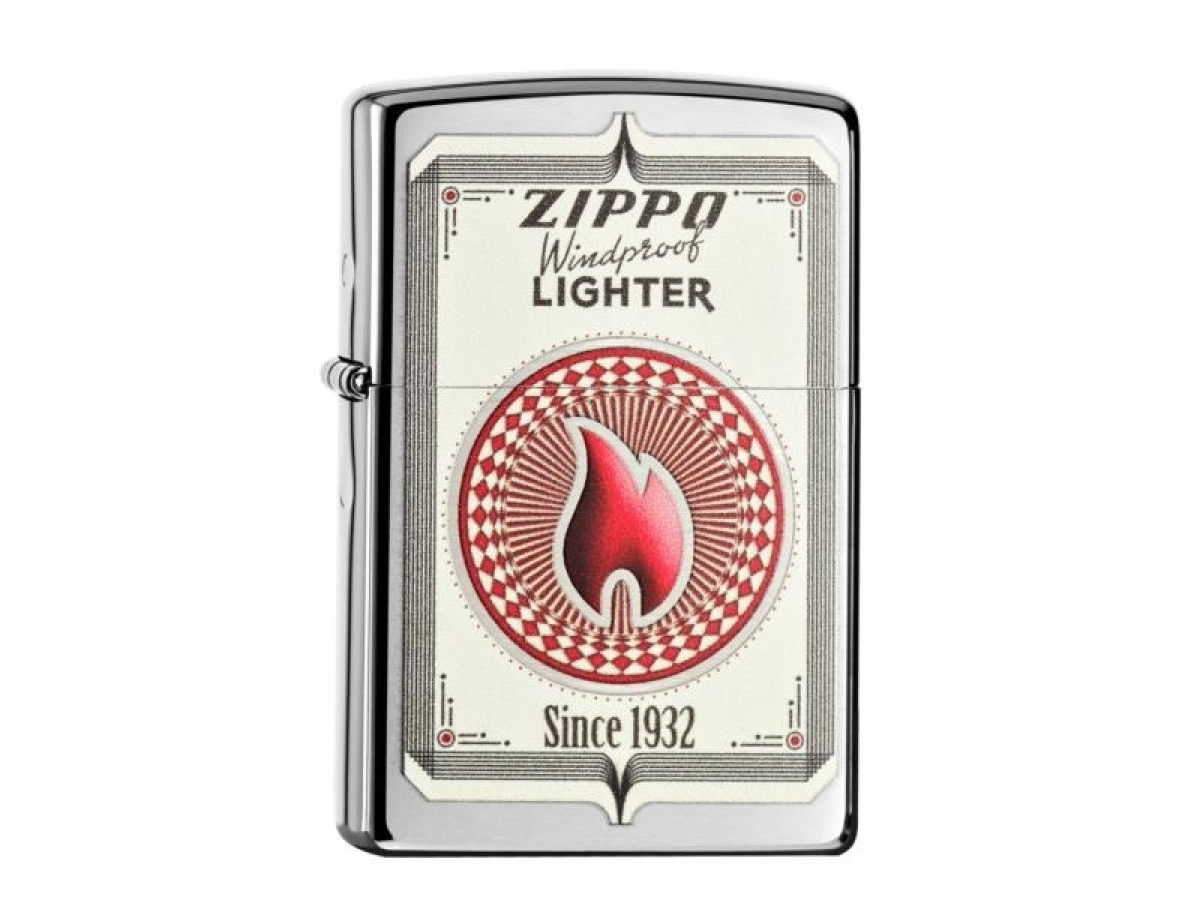 "Zippo Lighter cr.brshd.color ""Trading Cards"" 60000423 256812"