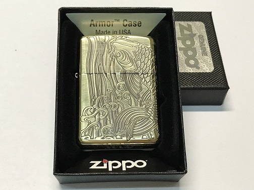 Zippo Lighter Dragon Jump Carp Bronze (ZBT-4-6A)
