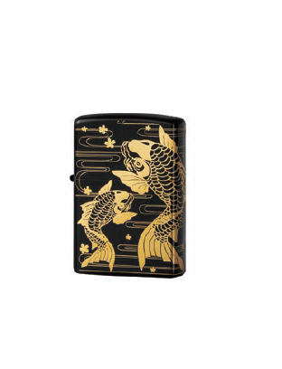 Zippo Lighter Good Things in Pairs - Gold carp (ZBT-3-11A)