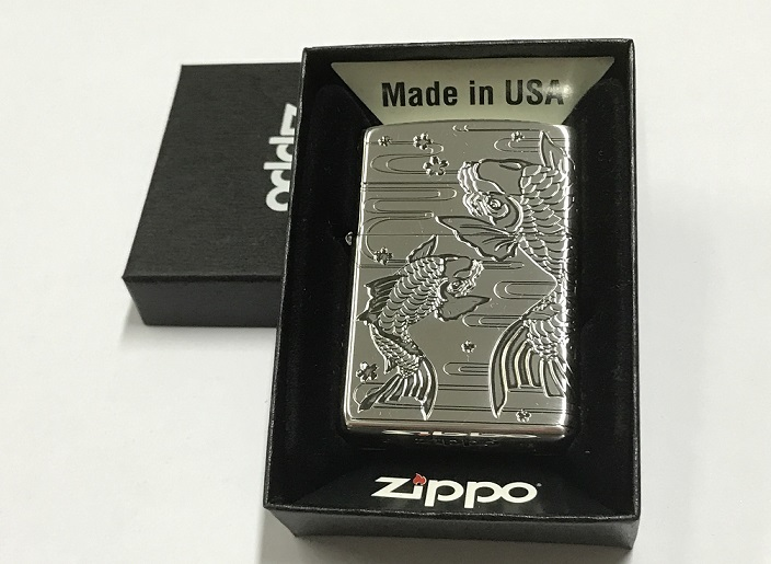 Zippo Lighter Good Thing in Pairs - Silver Carp (ZBT-3-11C)