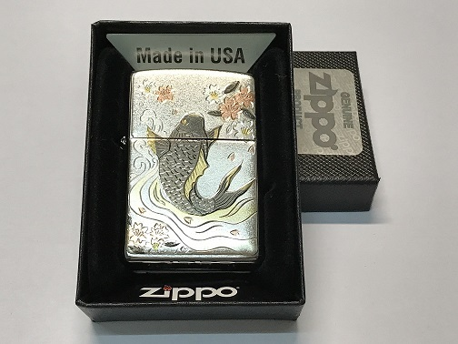 Zippo Lighter Japanese Traditional Design Koi (ZBT-5-26I)