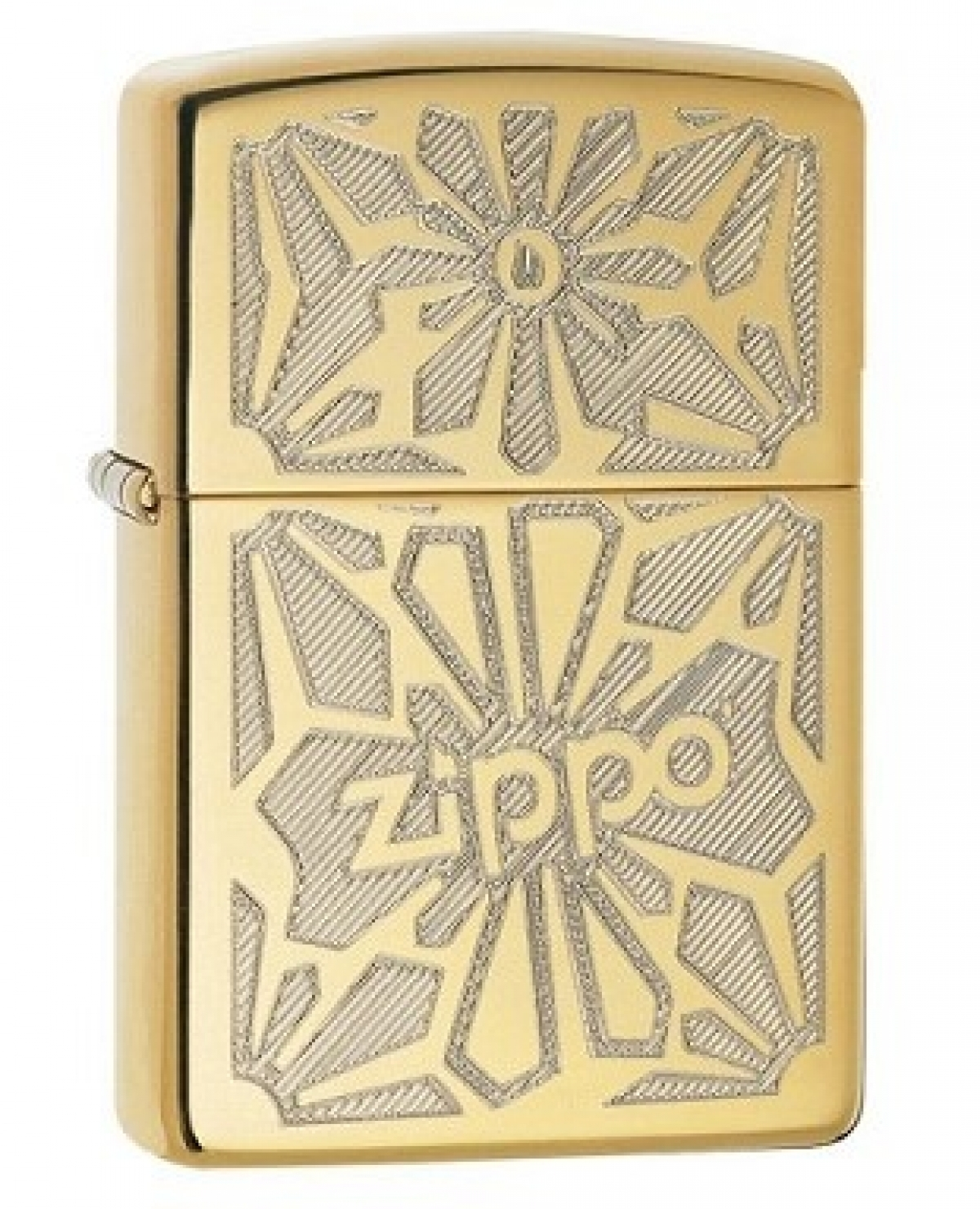 Zippo Lighter Ornament High Polished Brass W/ Design