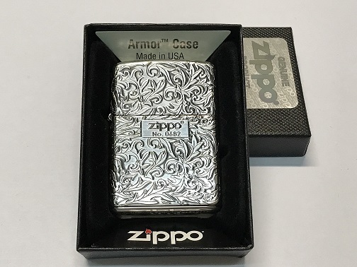 Zippo Lighter Oxidized Silver Plating with Etch in Serial number (ZBT-