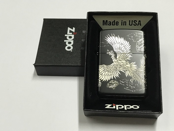 Zippo Lighter Phoenix Dance Nine Day Black Silver (ZBT-3-7B)
