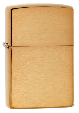 Zippo Lighter Reg Br Finish Brass Wo/Sb (204B)