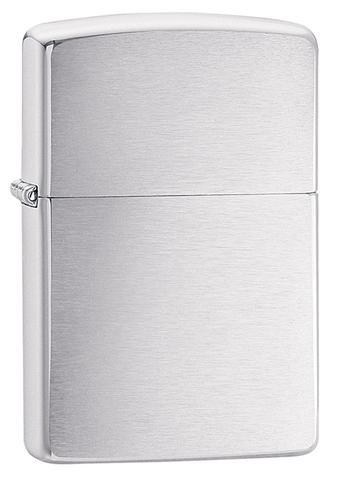 Zippo Lighter Reg Brush Fin Chrome (200)