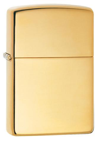 Zippo Lighter Reg High Polish Brass WOSB (254B)