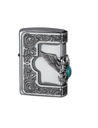Zippo Lighter T-Stone Wing Metal (ZBT-5-5A)