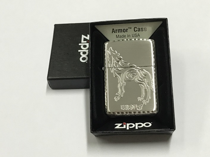 Zippo Lighter T- Wolf Antique SV (ZBT-3-56A)