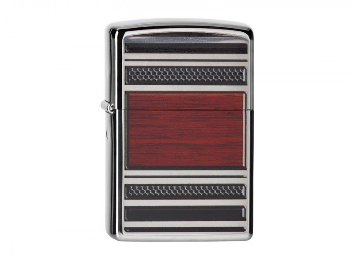 "ZIPPO Pipe Lighter chr. pol. ""Pipe Lighter Steel and Wood"" 2004257 256.."