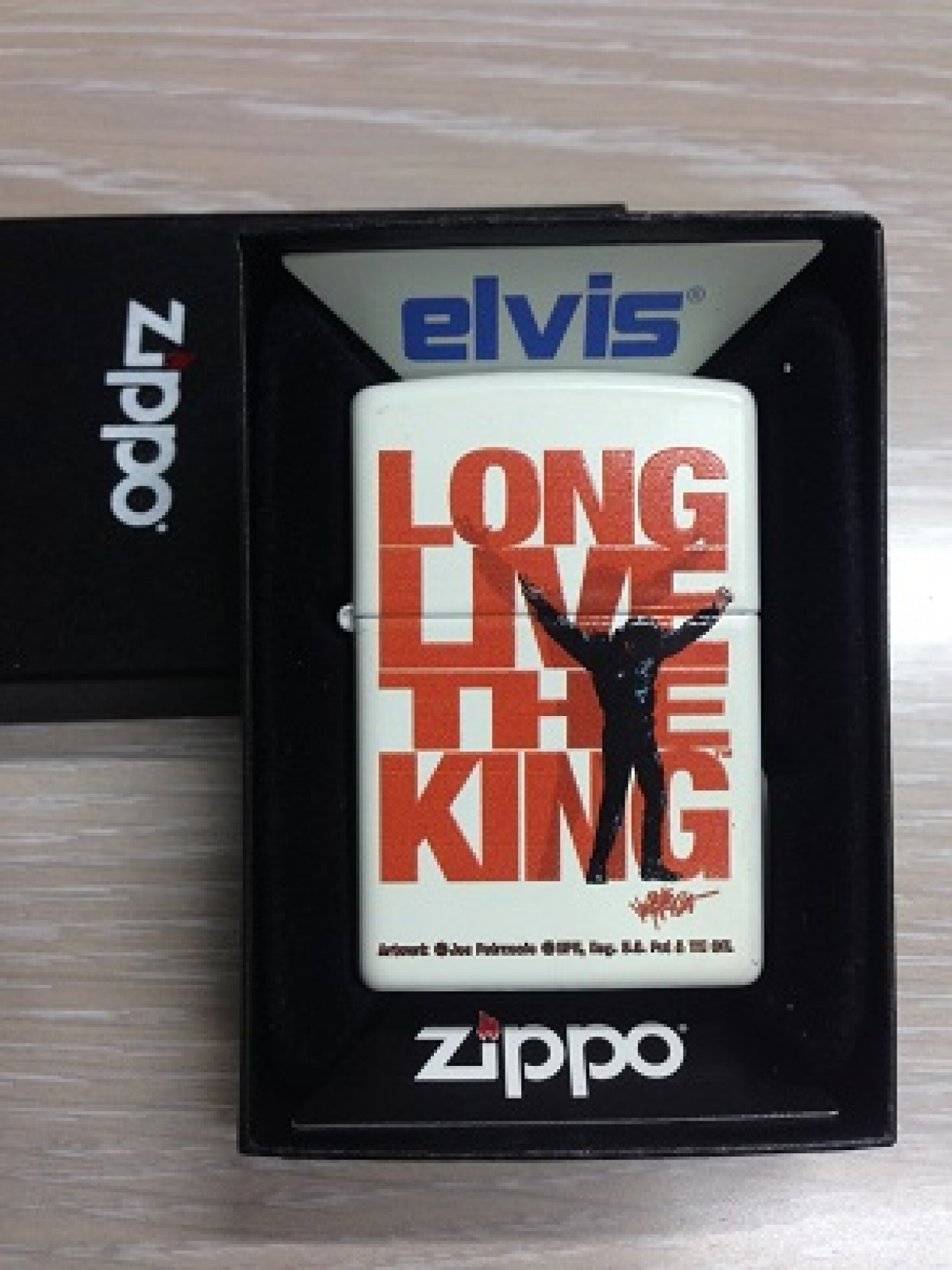 Zippo Pocket Lighter 214 Elvis Long Live King
