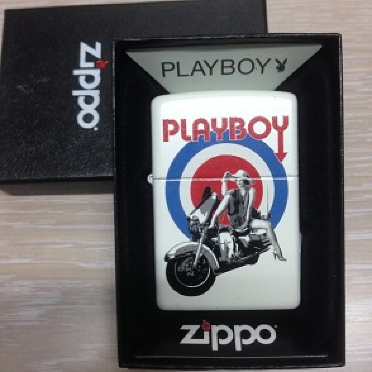 Zippo Pocket Lighter 214 Playboy Bulleye
