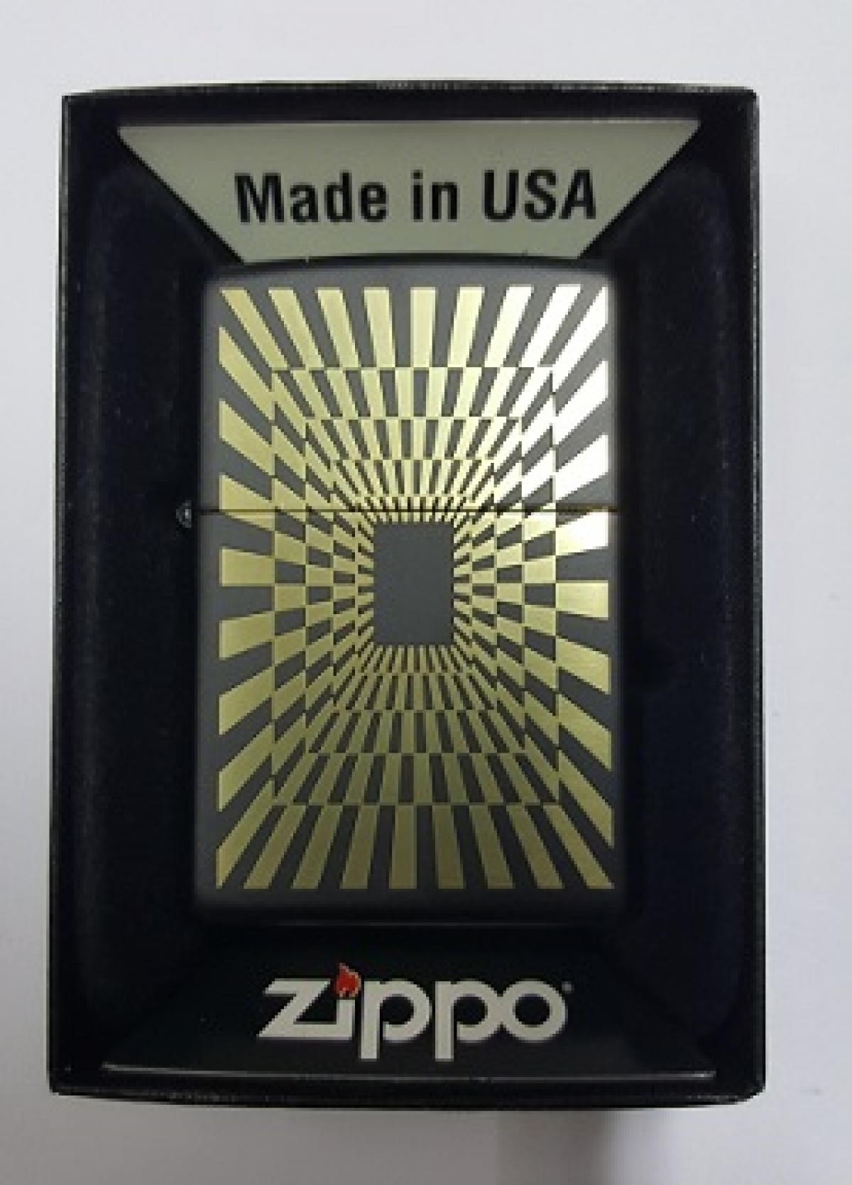 Zippo Pocket Lighter 218 Abstract Design