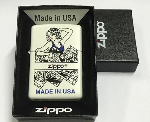 Zippo Pocket Lighter 28405 Cards with girl