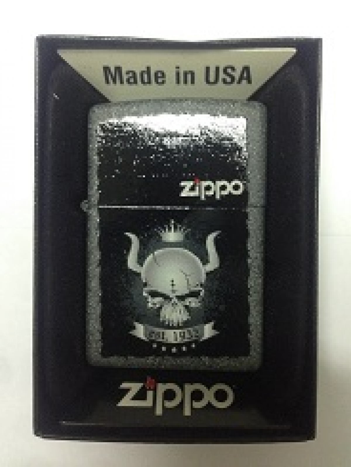 Zippo Pocket Lighter 28660 Skull Crown