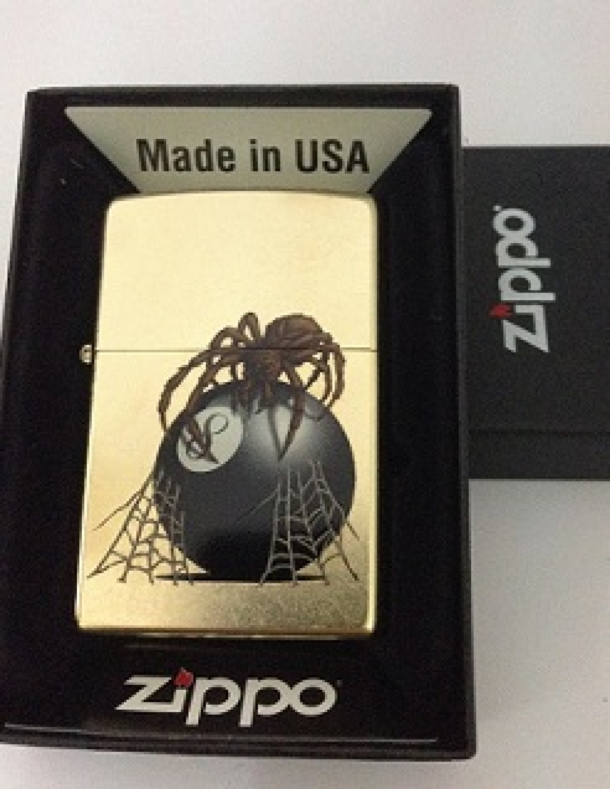 Zippo Pocket Lighter 60000649 207G Eight ball with Spider