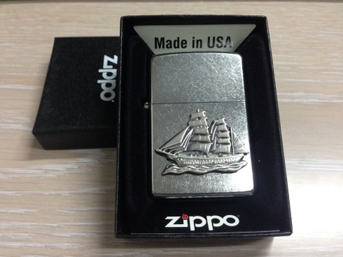 Zippo Pocket Lighter Emblem Ship