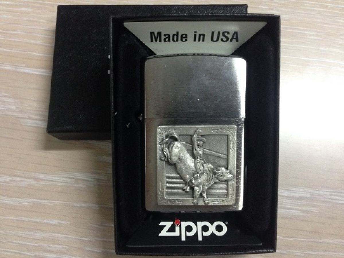 Zippo Pocket Lighter Rodeo Bull