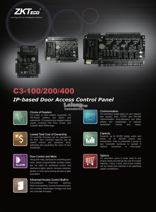 ZK C3-100 Card Access System with Installation