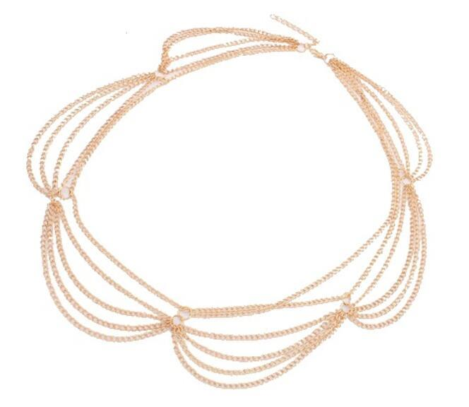 A-ZL-F15 P105191 Dangling gold hair accessories